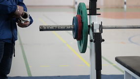 Concorsi sul powerlifting stock footage