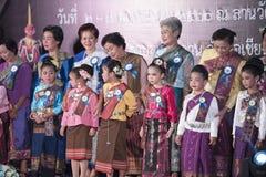 Concorso del festival sveglio Tailandia del bambino Immagini Stock Libere da Diritti