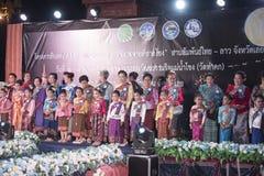 Concorso del festival sveglio Tailandia del bambino Fotografia Stock Libera da Diritti