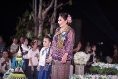 Concorso del festival sveglio Tailandia del bambino Fotografia Stock