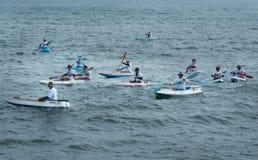 Concorso della canoa sulla spiaggia di Lebih, Bali Immagine Stock Libera da Diritti