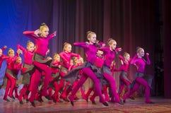 Concorso di ballo di MegaDance, Minsk, Bielorussia Immagini Stock Libere da Diritti