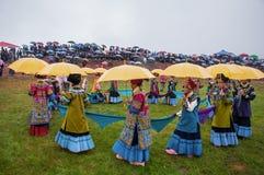 Concorso di bellezza della gente di Yi Immagine Stock Libera da Diritti