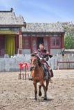 Concorso ippico antico agli studi del mondo di Hengdian, Cina di stile Fotografia Stock