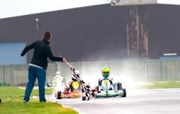 Concorso nazionale di karting organizzato da Amckart fotografia stock