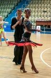 Concours dans la danse de sport Photographie stock libre de droits