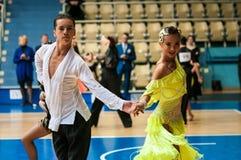 Concours dans la danse de sport Images libres de droits