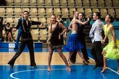 Concours dans la danse de sport Photo stock