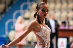 Concours dans la danse de sport Photos stock