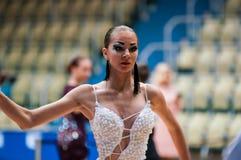 Concours dans la danse de sport Images stock