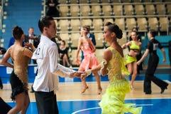 Concours dans la danse de sport Image libre de droits