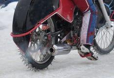 Concours dans le speed-way de glace Image libre de droits
