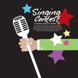 Concours de chant conceptuel. illustration stock