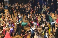 Concours de danse, commençant Photos libres de droits