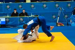 Concours de judo Photos stock