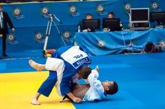 Concours de judo Photos libres de droits