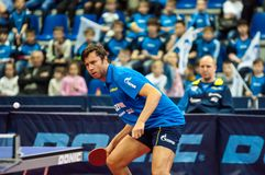 Concours de ping-pong Photographie stock libre de droits