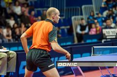 Concours de ping-pong Photo stock