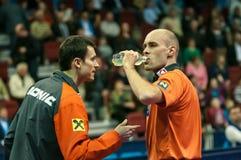 Concours de ping-pong Photo libre de droits