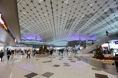 concours de zone centrale de fa à l'aéroport international du HK Image libre de droits