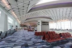 concours de zone centrale de Ra à l'aéroport international du HK Images libres de droits