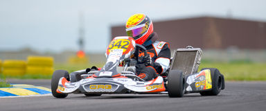 Concours national de karting organisé par Amckart image stock