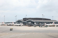 concours satellite du nord d'aéroport du HK Image stock