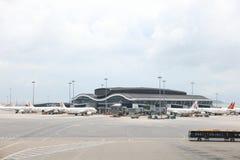 concours satellite du nord d'aéroport du HK Photos stock
