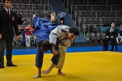 Concours sur le judo parmi les juniors 23.03.2013 Photographie stock libre de droits