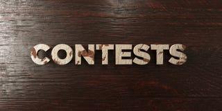 Concours - titre en bois sale sur l'érable - image courante gratuite de redevance rendue par 3D Images libres de droits