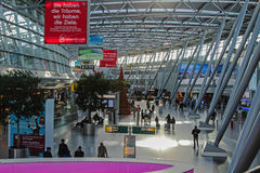 Concourse B and C at Düsseldorf International Stock Photo