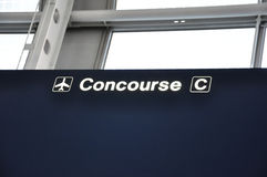 Concourse C Sign Stock Images