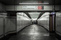Concourse in Center City, Philadelphia, Pennsylvania.  royalty free stock photos