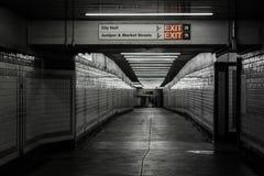 Concourse in Center City, Philadelphia, Pennsylvania.  stock images