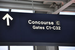 Concourse and gate airport sign Stock Photo