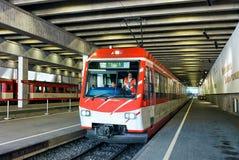 Concourse at Railway train station in Zermatt Switzerland Royalty Free Stock Photos