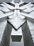 Concreet abstract beeldhouwwerk Royalty-vrije Stock Foto's