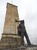 Concreet communistisch monument stock fotografie