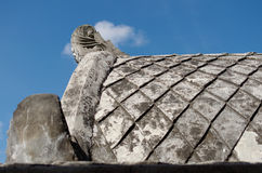Concreet dak bij taman het waterkasteel van Sari - de koninklijke tuin van sultanaat van Jogjakarta Stock Fotografie