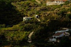 Concreet irrigatiebassin op hoge heuvels in Andalusia, een plaats van royalty-vrije stock afbeeldingen