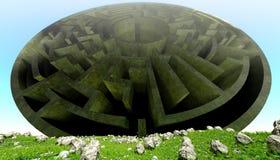 Concreet Labyrint stock illustratie