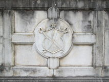 Concreet middeleeuws embleem Royalty-vrije Stock Foto