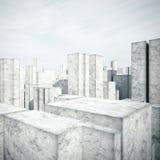 Concreet model van een stad Royalty-vrije Stock Fotografie