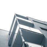 Concreet muren en glas van balkons Stock Fotografie