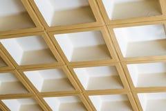Concreet plafond van vierkante blokken Royalty-vrije Stock Foto