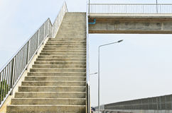 Concreet viaduct Stock Afbeelding
