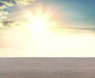Concreet vliegtuig tegen achtergrond van zonsopgang Royalty-vrije Stock Afbeelding