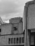 Concret - ancien bâtiment de Yorkshire Post image stock