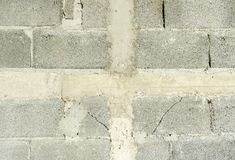 Concret bricky gray background of natural cement Stock Photos