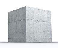Concret  geometric shapes cube Stock Photo